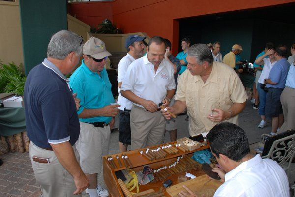 Frank Paul ... Presenting Cigars (Cut / Light) Present Cigars to Golfers at Jacaranda Country Club...