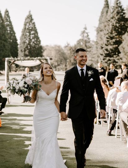 First walk as husband and wife