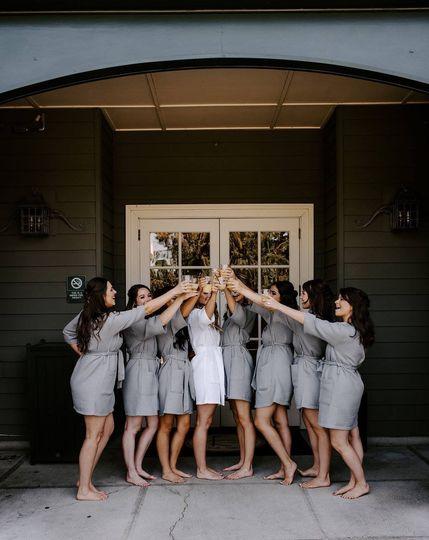 Outside bridal suite