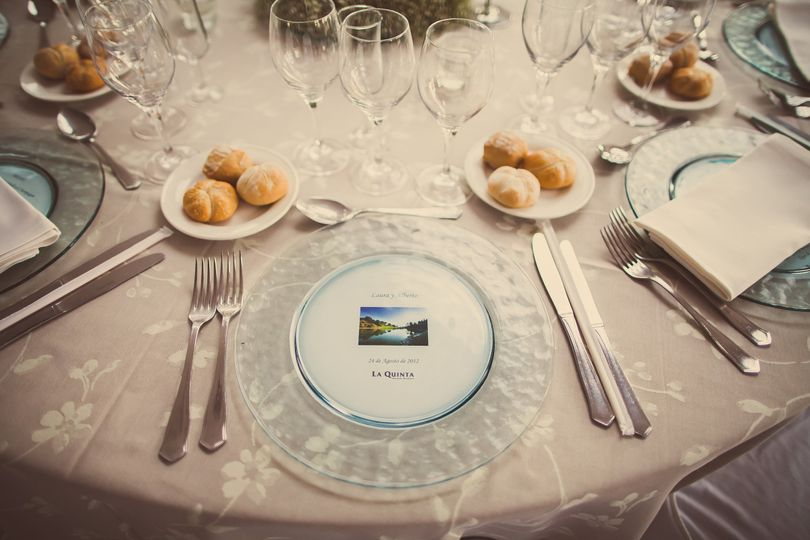table prepared for our wedding guests