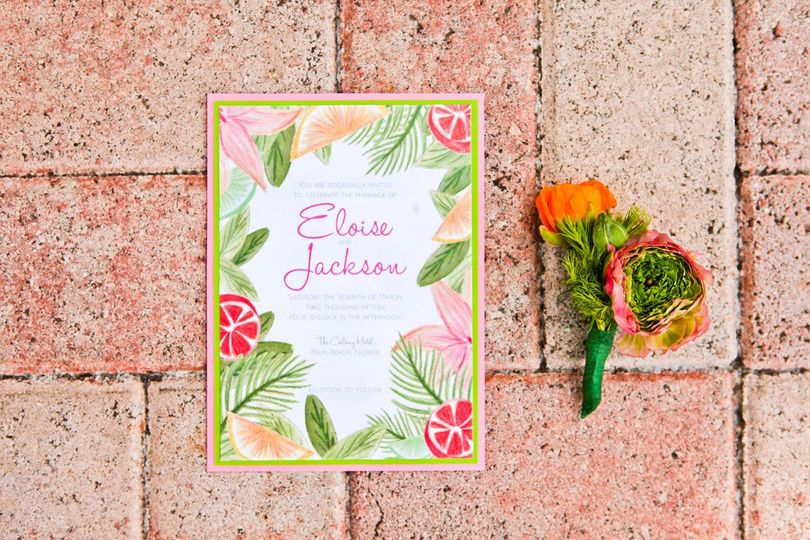 the majestic visionlilly pulitzer inspired wedding