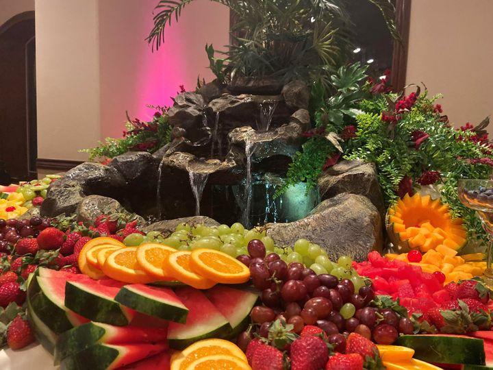 The venue's fruit displays