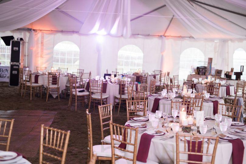 Tented wedding lake side at Still Bay Resort, Lake George NY
