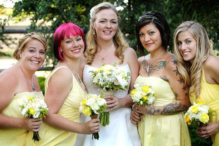 Having the whole bridal party get makeup and hair services ensures that everyone looks great in your...
