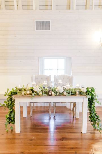 Sweetheart Table  Photo by Anna Taylor Photography