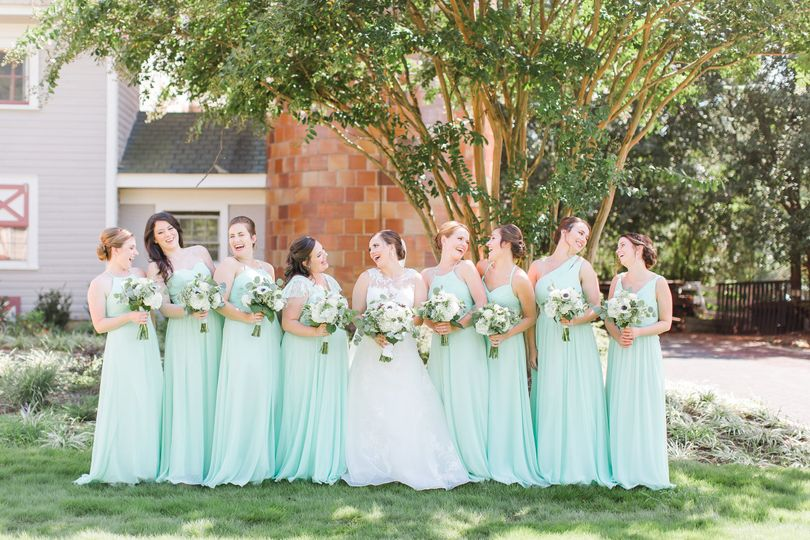 Blue dresses | Photo by Anna Taylor Photography