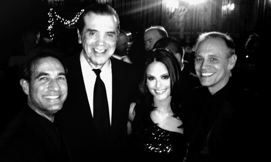 Vinny, Pia & John with Chazz  Palminteri