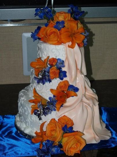 Butter cream with fondant drape