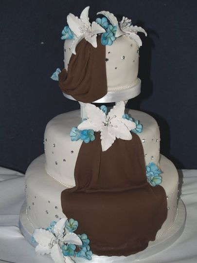 Brownfondantdrape