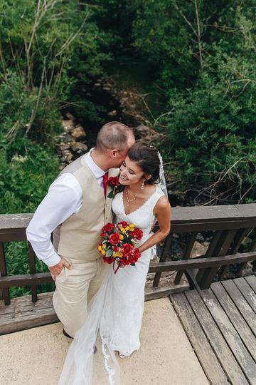 Outdoor mountain wedding