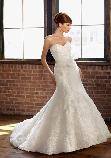 Mori Lee Blu collection wedding dress style 4807