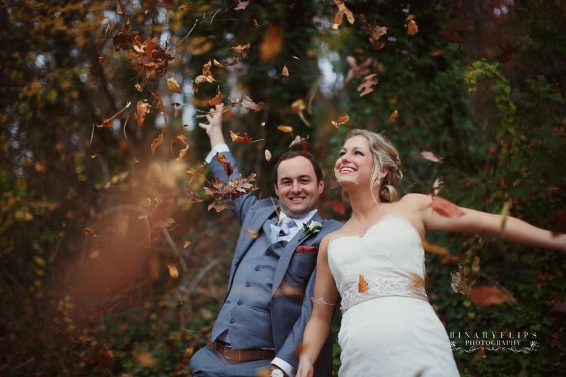 Fall wedding in North Carolina