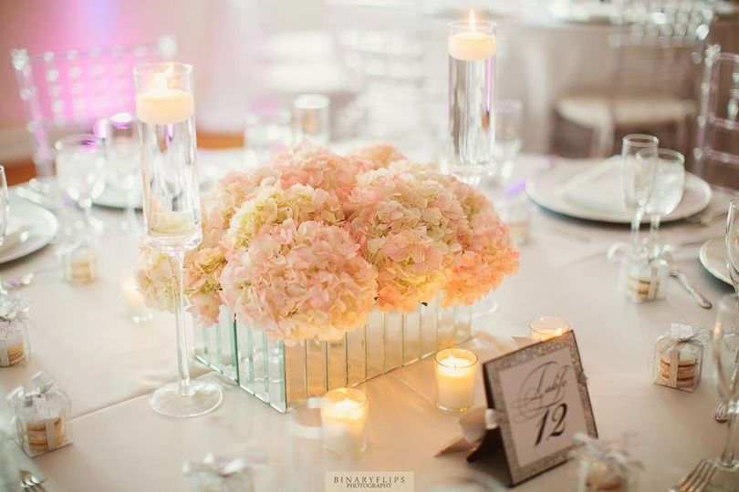 White and Modern table scape