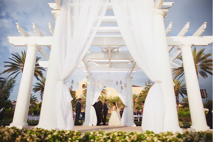 Ritz Carlton gazebo ceremony