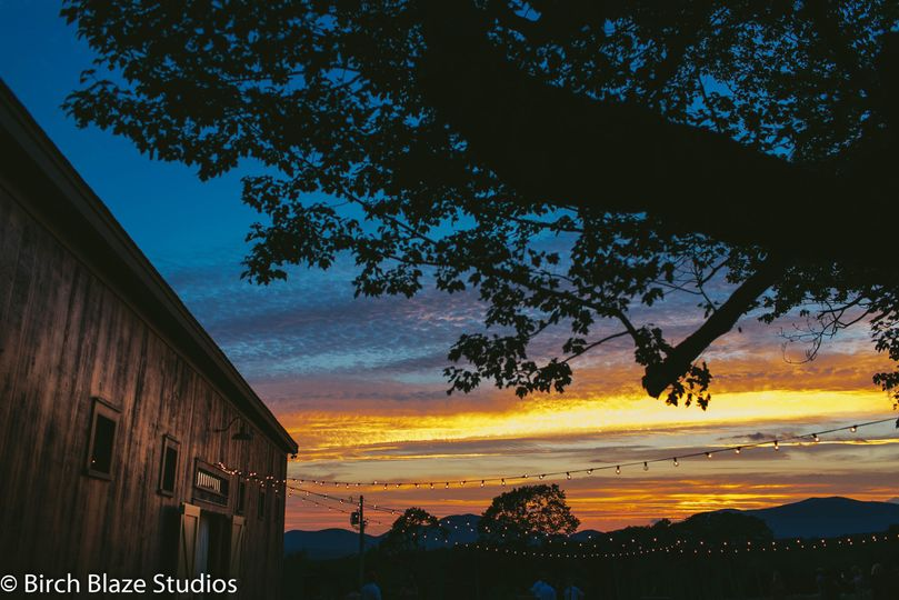 Sunset at the barn