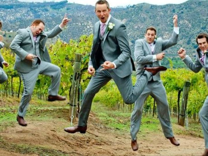 Tmx 1426539956431 Groomsmen Jumping Silly Before Wedding Ceremony Kansas City wedding dress
