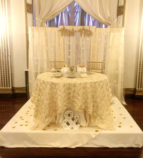 Custom backdrops for ceremonies and head tables.