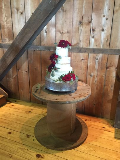 Add a touch of rustic to your event with our spool cake table!