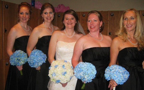 White and blue hydrangeas