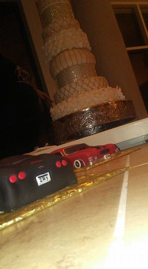 blinged out cake