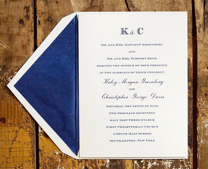 llbk03se120 kaley chris davis wedding invitation