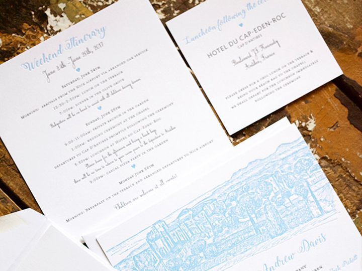 Tmx 1495118422468 Llbk03se117 Kate  Andrew Wedding Suite.2 Saved Dow New York, NY wedding invitation