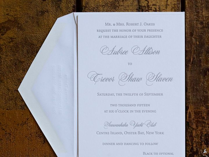 Tmx 1495118518267 Llbk03se118 Aubree  Trevor Wedding.2 New York, NY wedding invitation