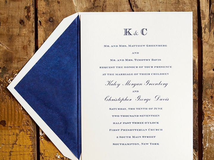 Tmx 1495118755597 Llbk03se120 Kaley  Chris Davis Wedding Invitation. New York, NY wedding invitation