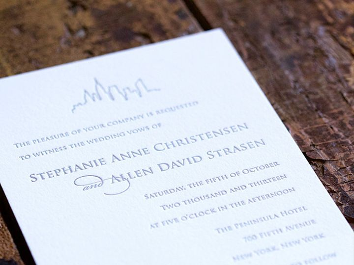 Tmx 1495118925751 Llbk03se122 Stephanie And Allen Wedding.6 Saved Do New York, NY wedding invitation