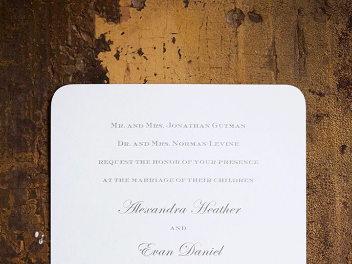 Tmx 1495119105525 Thbk03se101 Alex And Evan Invitation.4 Saved Down New York, NY wedding invitation