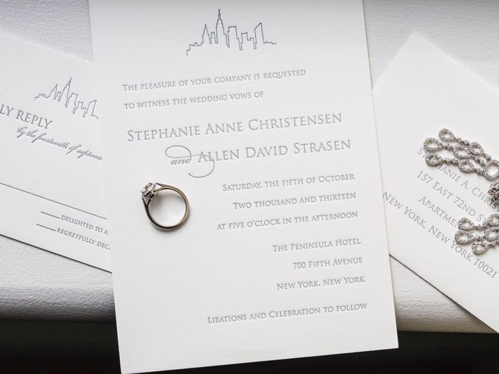 Tmx 1495119393444 Chr0056 New York, NY wedding invitation