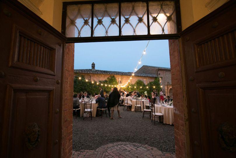 Doorway to the reception