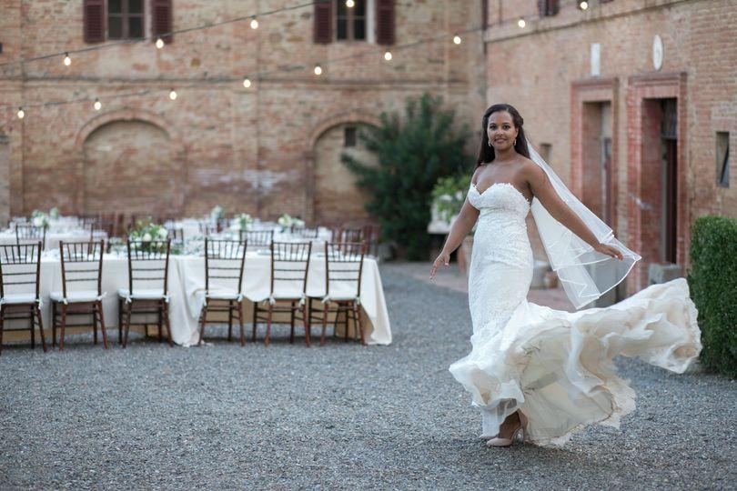 Bride in the reception area