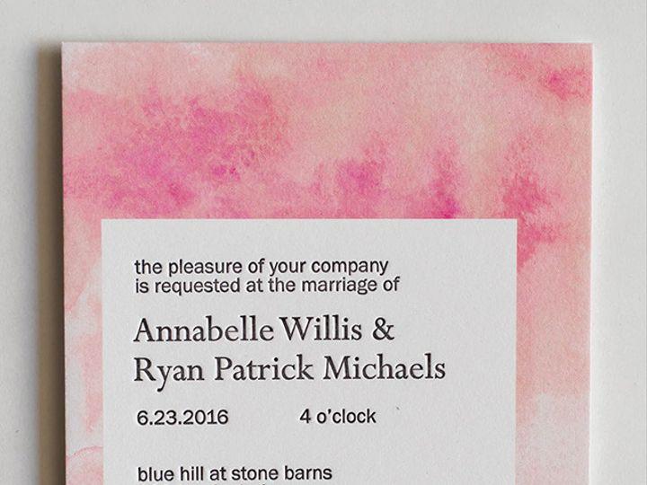 Tmx 1470957477614 Mikspress Wedding Letterpress Watercolor 2 Washington wedding invitation