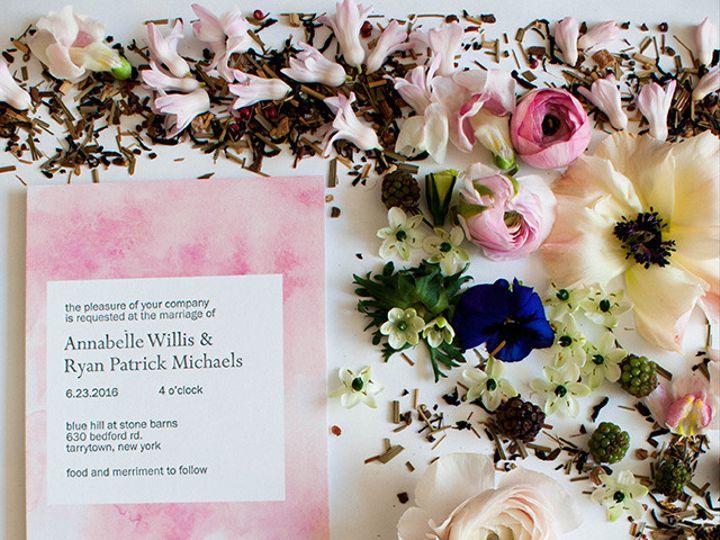 Tmx 1470957499910 Mikspress Wedding Letterpress Watercolor B Washington wedding invitation