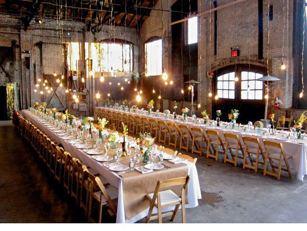 Wedding reception at Basilica Hudson