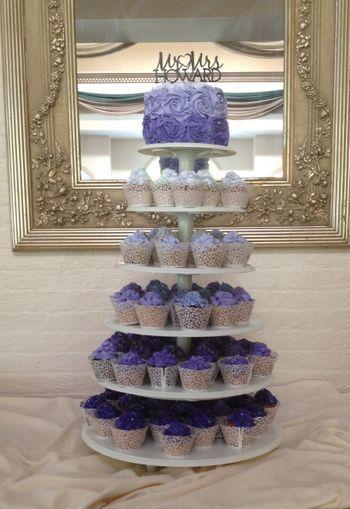 Ombre wedding cake/cupcakes