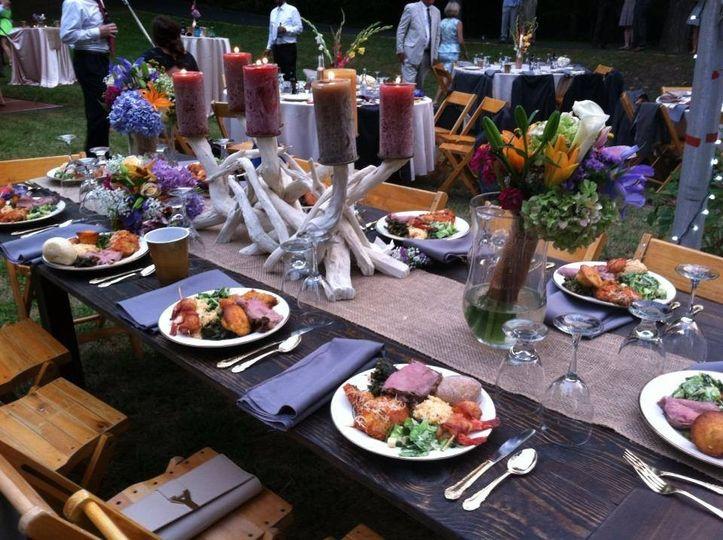 meg wedding head table plat
