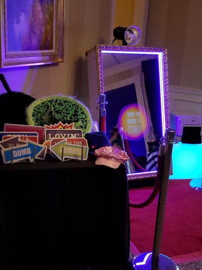 The magic mirror photo booth experience