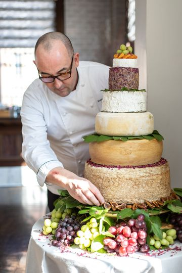 Custom Cheese Wedding Cake