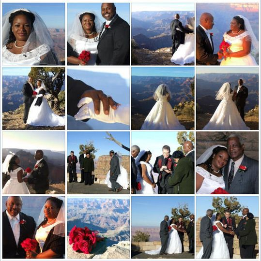 collage grand canyon weddin