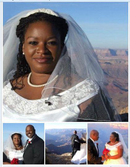 collage wedding grand canyo