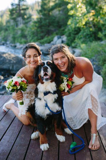 Brides Sharrifa and Paige