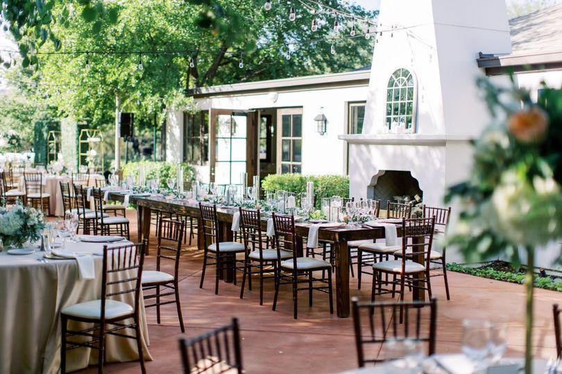 Casa Paloma patio reception