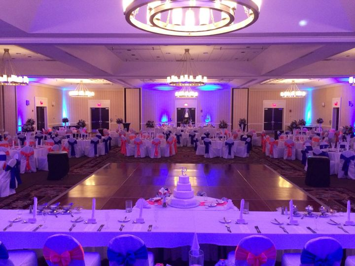 Wedding reception with dance floor