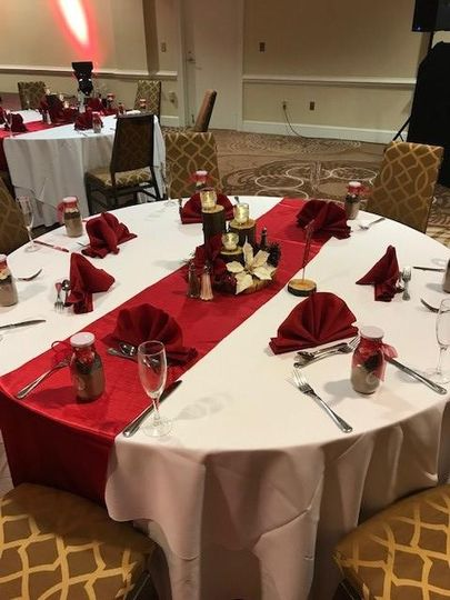 PA Ballroom Table Setting