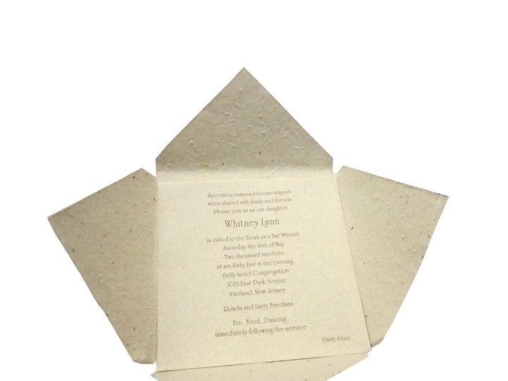 Tmx 1362502713745 Naturalquadfoldinterior Saint Louis wedding invitation