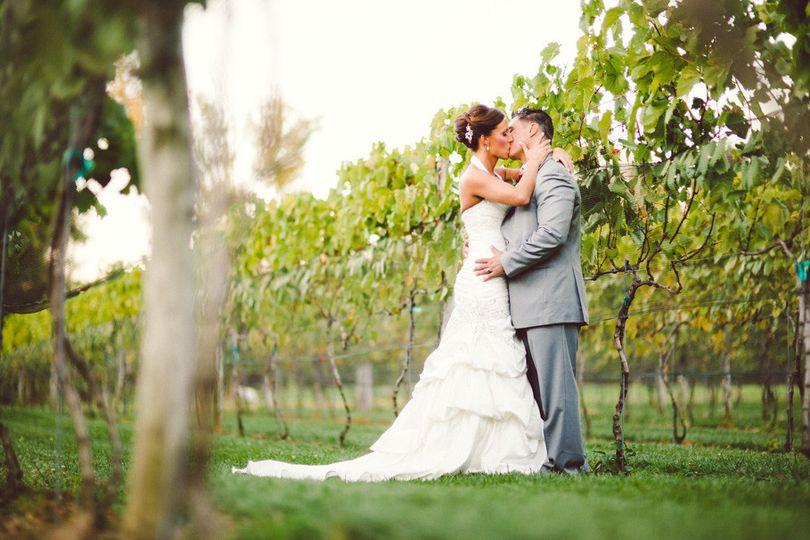 bride and groom kissingorig