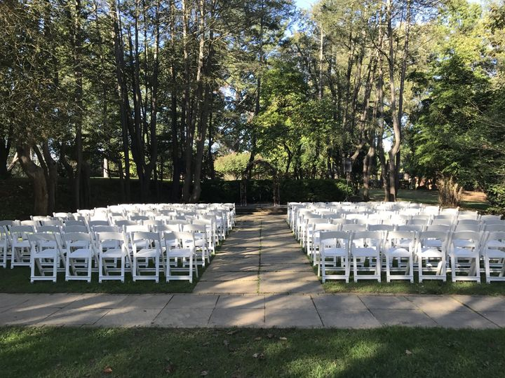 Outdoor wedding - view from the back