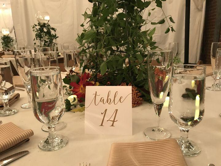 Table number - simple yet elegant